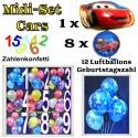 Kindergeburtstag Midi-Set 3 Cars
