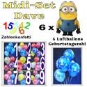 Kindergeburtstag Midi-Set 5, Dave, Minions