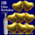 Golden Hearts Maxi-Set Folienballons