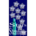 Maxi-Set 4B, 100 Sternballons aus Folie (Farbauswahl) mit Helium