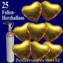 Golden Hearts Midi-Set Folienballons