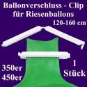 Patentverschluss, Fixverschluss für Riesenballon 120-160 cm