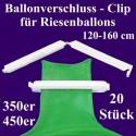 Patentverschlüsse, Fixverschlüsse für Riesenballons 120-160 cm, 20 Stück