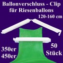 Patentverschlüsse, Fixverschlüsse für Riesenballons 120-160 cm, 50 Stück