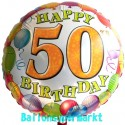Happy Birthday Luftballon zum 50. Geburtstag (ohne Helium)
