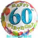 Happy Birthday Luftballon zum 60. Geburtstag (ohne Helium)