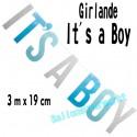 Banner It's a Boy, Dekoration Babyparty, Geburt und Taufe, Junge