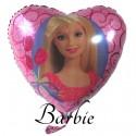 Barbie Luftballon aus Folie, Herzballon (ungefüllt)