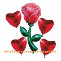 Bouquet aus Luftballons zur Rosenhochzeit, inklusive Helium