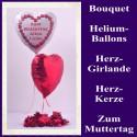 ZUM MUTTERTAG ALLES LIEBE, Bouquet aus Heliumballons mit Dekoration, 02