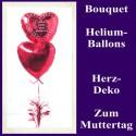 Alles Liebe zum Muttertag, Bouquet aus Heliumballons mit Dekoration, 03