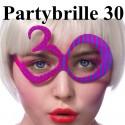 Party-Brille Zahl 30, zum 30. Geburtstag