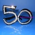 Party-Brille mit Glitzersteinen, Zahl 50, zum 50. Geburtstag