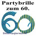 Party-Brille Zahl 60, zum 60. Geburtstag