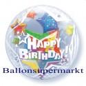 Happy Birthday Twinkling Stars, Bubble Luftballon (mit Helium)