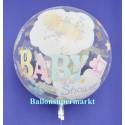 Bubble Luftballon zu Geburt und Taufe, Baby Shower (mit Helium)