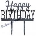Spiegel Cake Topper Happy Birthday, Kuchendekoration zum Geburtstag