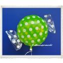 Candy Luftballon aus Folie mit Helium, Melon, Dots