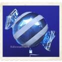 Candy Luftballon aus Folie mit Helium, Hellblau, Stripes