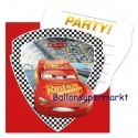 Cars 3, Einladungskarten zum Kindergeburtstag, 6 Stück