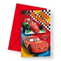 Cars, Einladungskarten zum Kindergeburtstag, 6 Stück