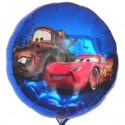 Cars Luftballon, Lightning McQueen, Rundballon 45 cm, Blue, ohne Helium
