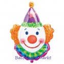 Luftballon Clown, Folienballon mit Ballongas