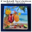 Cocktail Servietten, Hawaii, 20 Stück