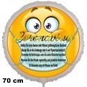 Coronavirus Luftballon mit Schutzmaßnahmen, 70 cm, inklusive Helium-Ballongas