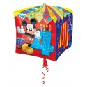 Cubez Luftballon aus Folie mit Helium, Mickey Mouse, 4. Geburtstag, Bunt, Junge