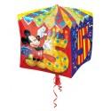 Cubez Luftballon aus Folie mit Helium, Mickey Mouse, 5. Geburtstag, Bunt, Junge
