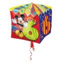 Cubez Luftballon aus Folie mit Helium, Mickey Mouse, 6. Geburtstag, Bunt, Junge