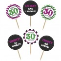 Cupcake Topper Zahl 30, Kuchendekoration zum 30. Geburtstag