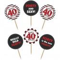 Cupcake Topper Zahl 40, Kuchendekoration zum 40. Geburtstag