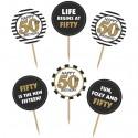 Cupcake Topper Zahl 50, Kuchendekoration zum 50. Geburtstag