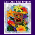 Cut-Out Tiki Tropics, Hawaii-Partydekoration
