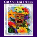 Cut-Out Tiki Tropics, Hawaii-Partydekoration