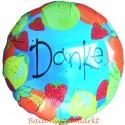 Danke, Luftballon aus Folie mit Helium-Ballongas, Ballongrüße