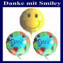 "Ballongrüße ""Danke mit Smiley"""