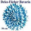 Deko-Fächer Bavaria, 50 cm, Oktoberfest-Dekoration