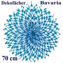 Großer Deko-Fächer Bavaria, 70 cm, Oktoberfest-Dekoration