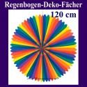 Deko-Fächer Regenbogen Rosette, 120 cm