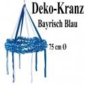 Deko-Kranz Bayrisch Blau, 75 cm, Oktoberfest-Dekoration