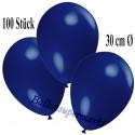 Deko-Luftballons, Ultramarin, Latex 30 cm Ø, 100 Stück