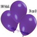 Deko-Luftballons, Violett, Latex 30 cm Ø, 100 Stück