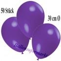 Deko-Luftballons, Violett, Latex 30 cm Ø, 50 Stück