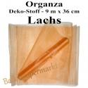 Organza Deko-Stoff, Lachs, 9 Meter x 36 cm