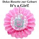 Deko-Rosette It's a Girl, Dekoration Babyparty, Geburt Mädchen