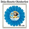 Oktoberfest Deko-Rosette, O'zapft is, 60 cm, schwer entflammbar