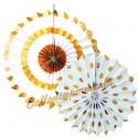 Deko-Rosetten, Festive Gold, 2er Set zur Hochzeit